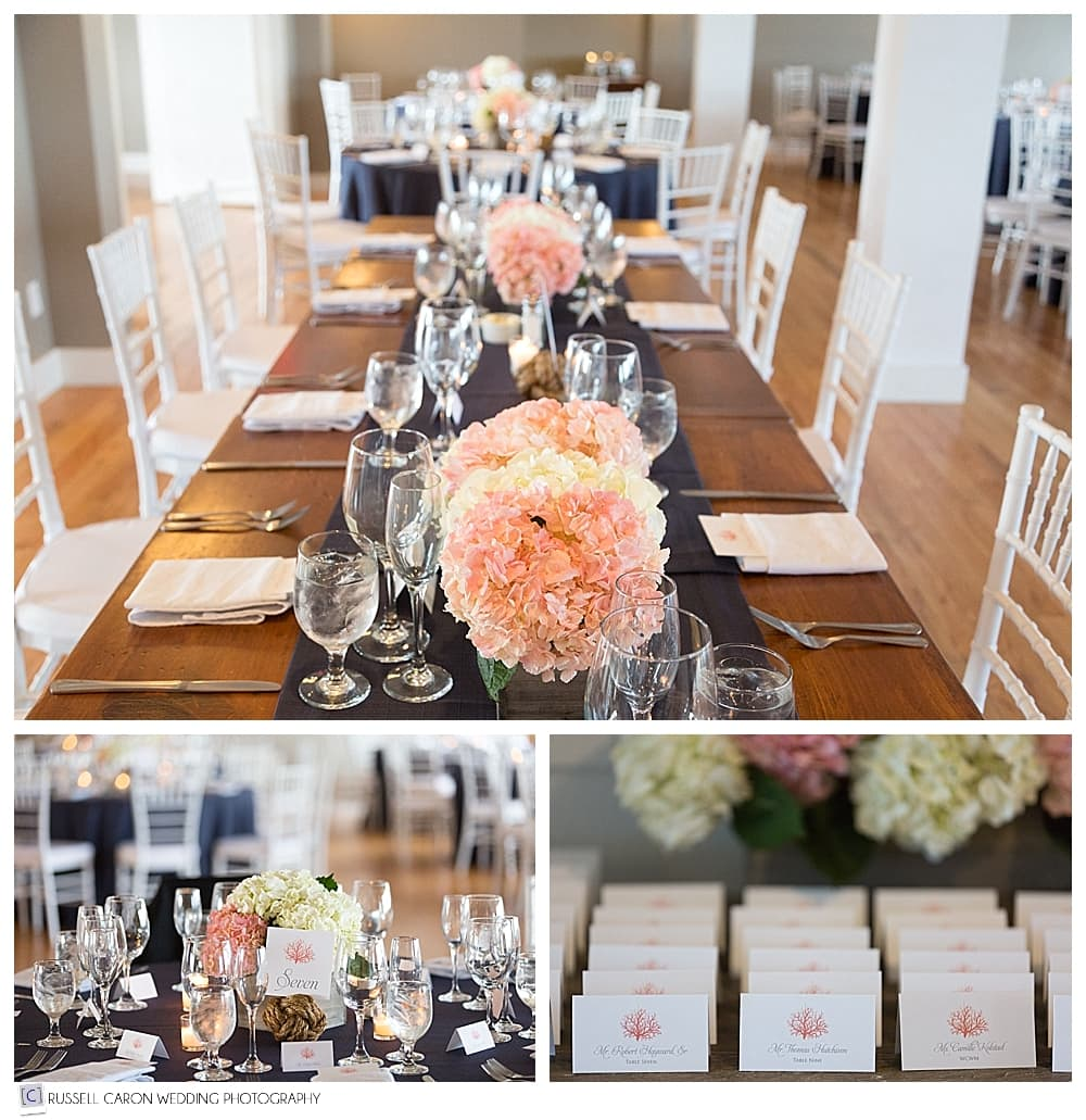 wedding day details, flowers, and escort cards