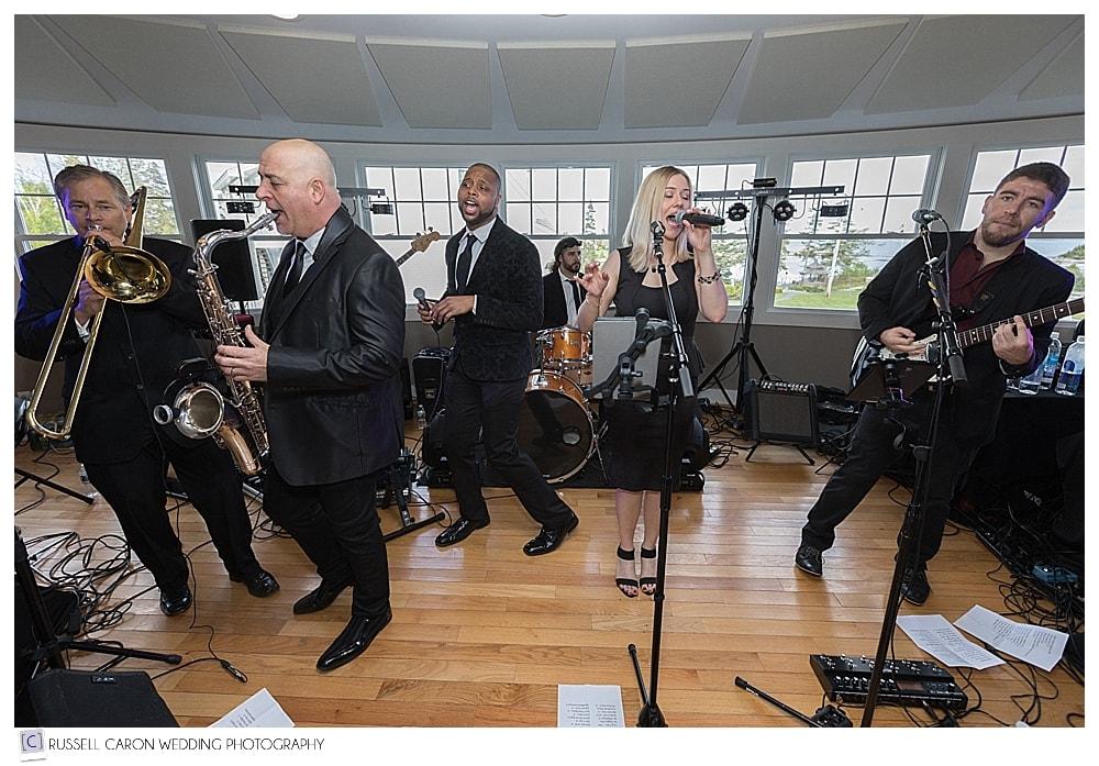 The Soul Estate Band at Newagen Seaside Inn wedding