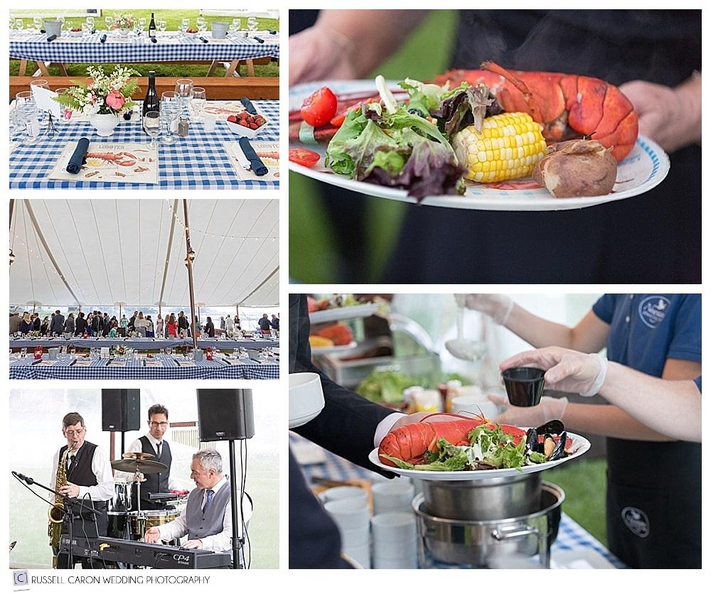 rehearsal dinner details at a newagen seaside inn wedding