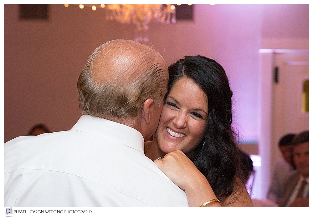 bride during father daughter dance