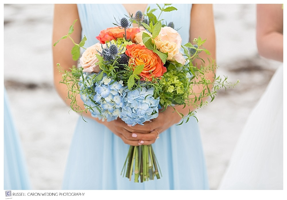 beautiful bridesmaid bouquet by Brenda's Bloomers Maine