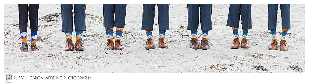 groomsmen's colorful socks