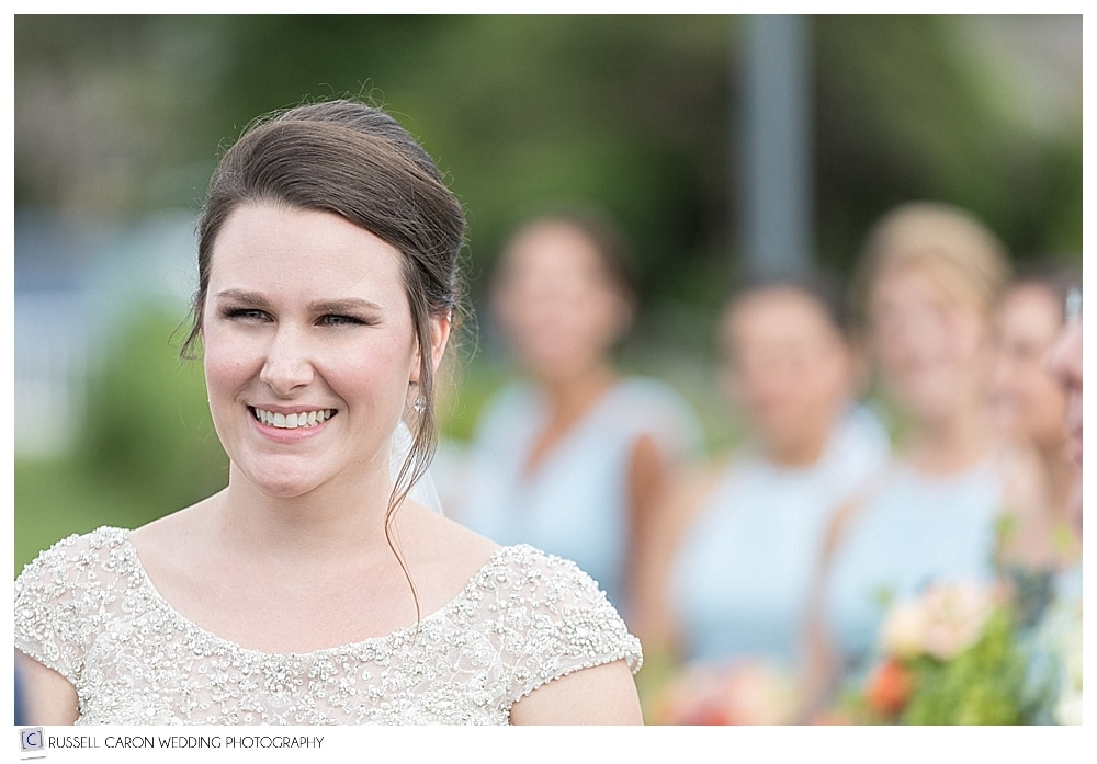 bride during wedding ceremony by Nonantum wedding photographers