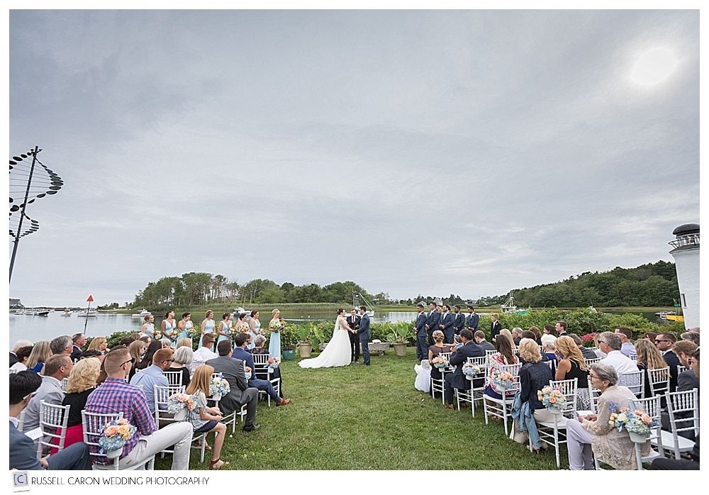 outdoor wedding ceremony at the Nonantum Resort Kennebunkport Maine
