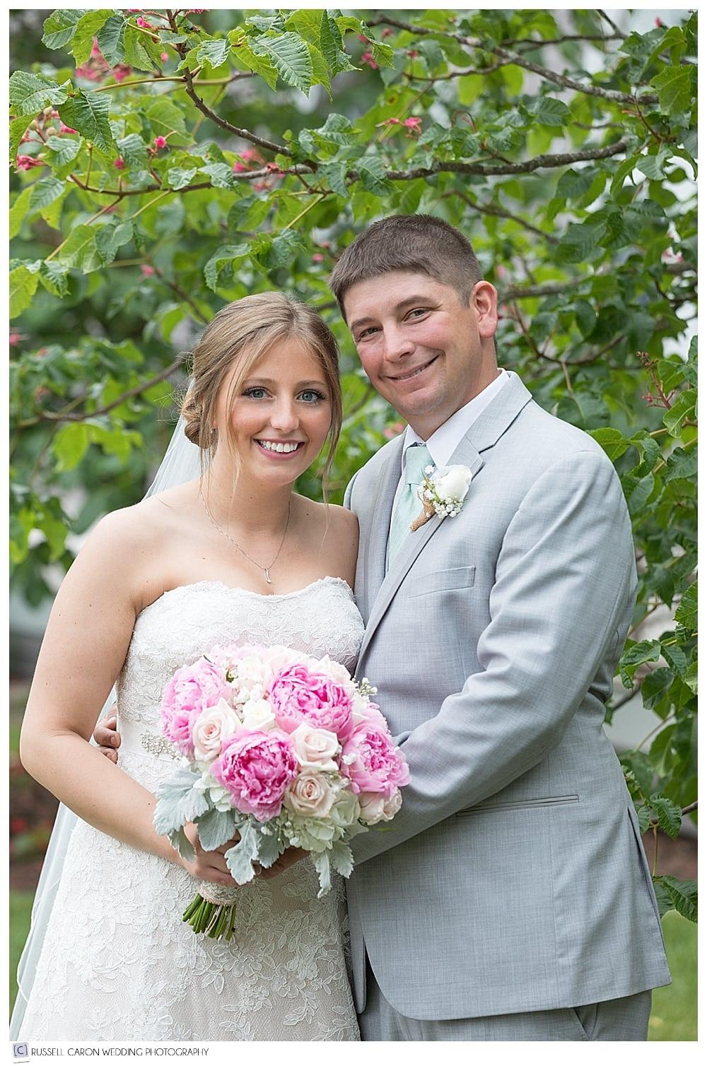 bride and groom portrait