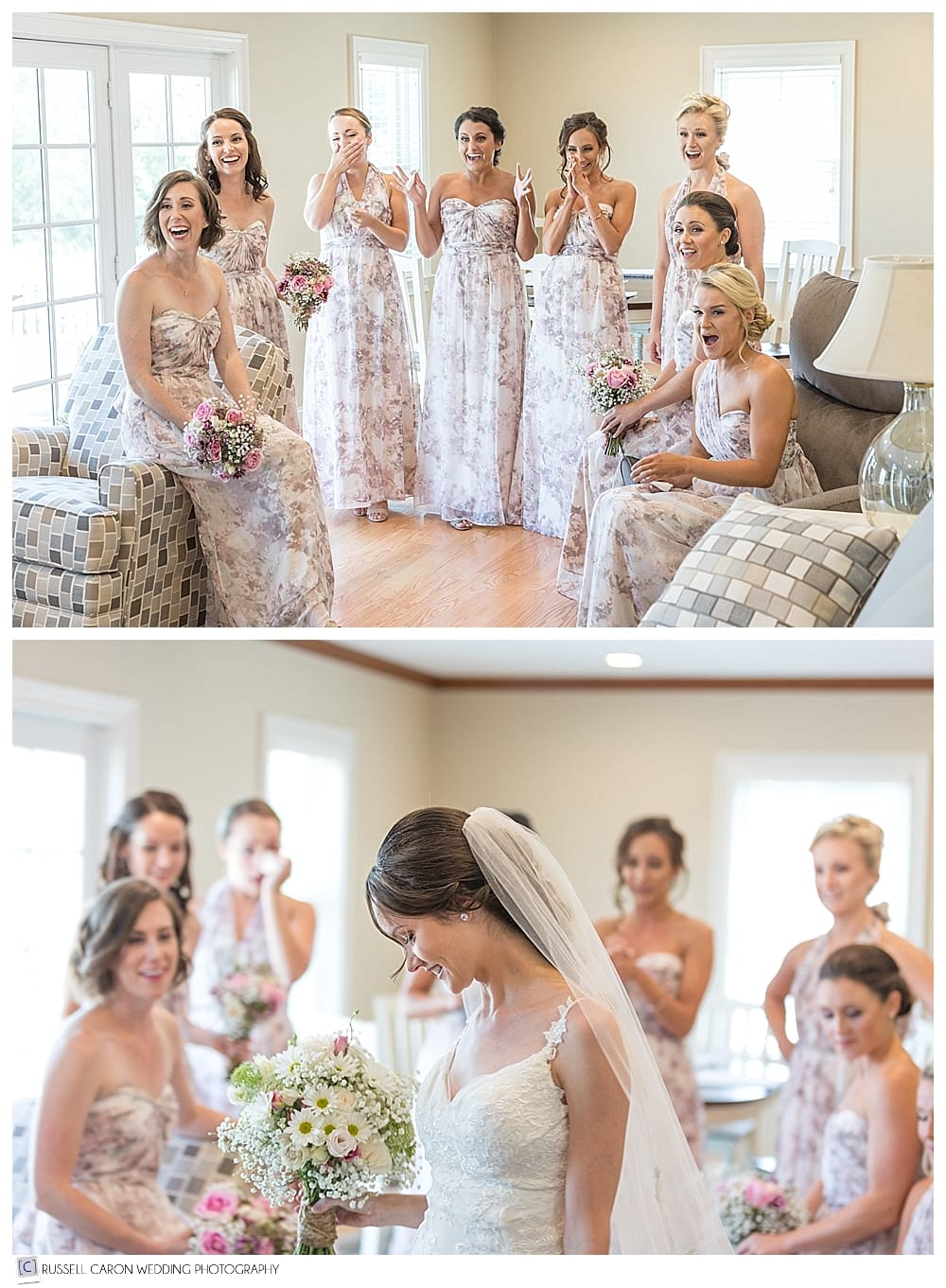 bride reveal to bridesmaids