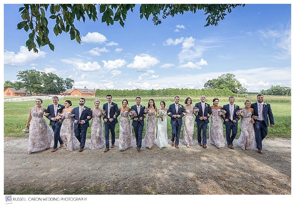 bridal party at Parlee Farms wedding