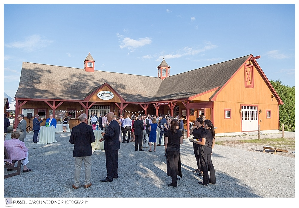 cocktail hour at Parlee Farms wedding