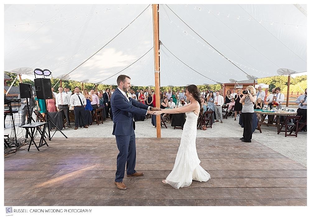 First dance photos at Parlee Farms wedding