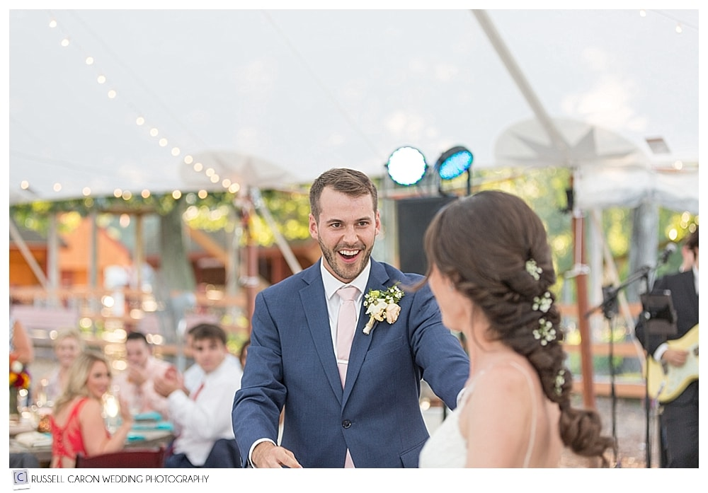 groom during first dance