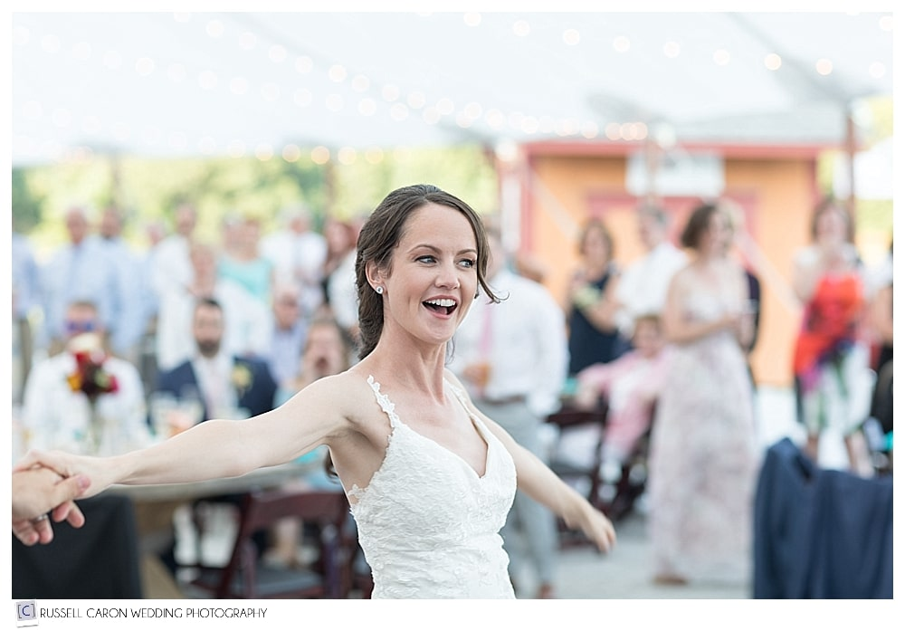 bride during wedding day first dance