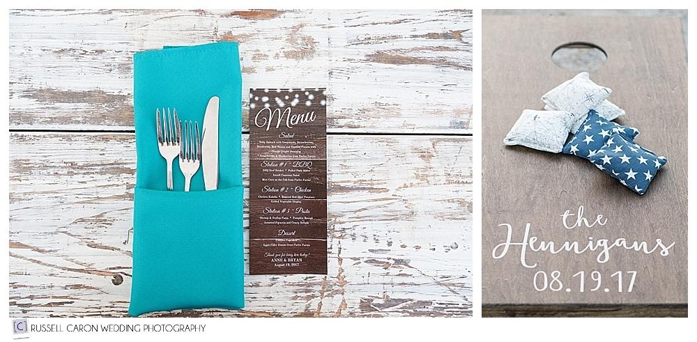 Parlee Farms wedding reception details