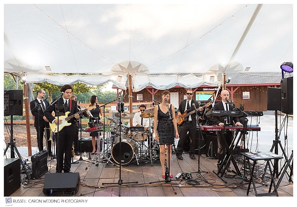Band Honey Train at Parlee Farms wedding reception