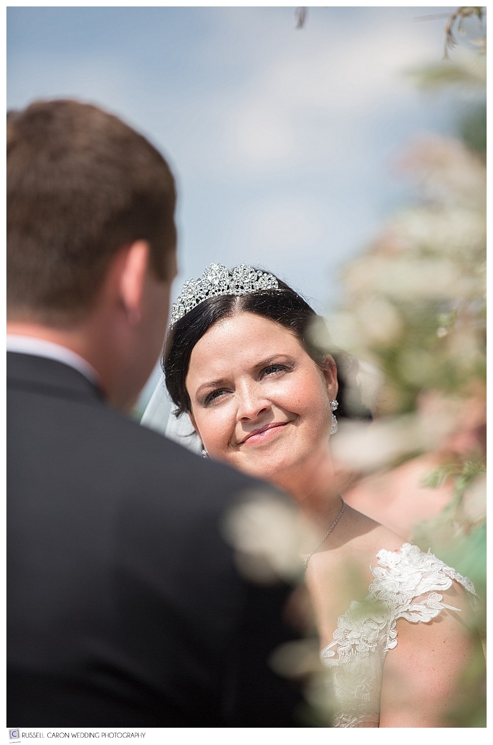 bride-during-outdoor-wedding-ceremony-at-point-lookout-maine