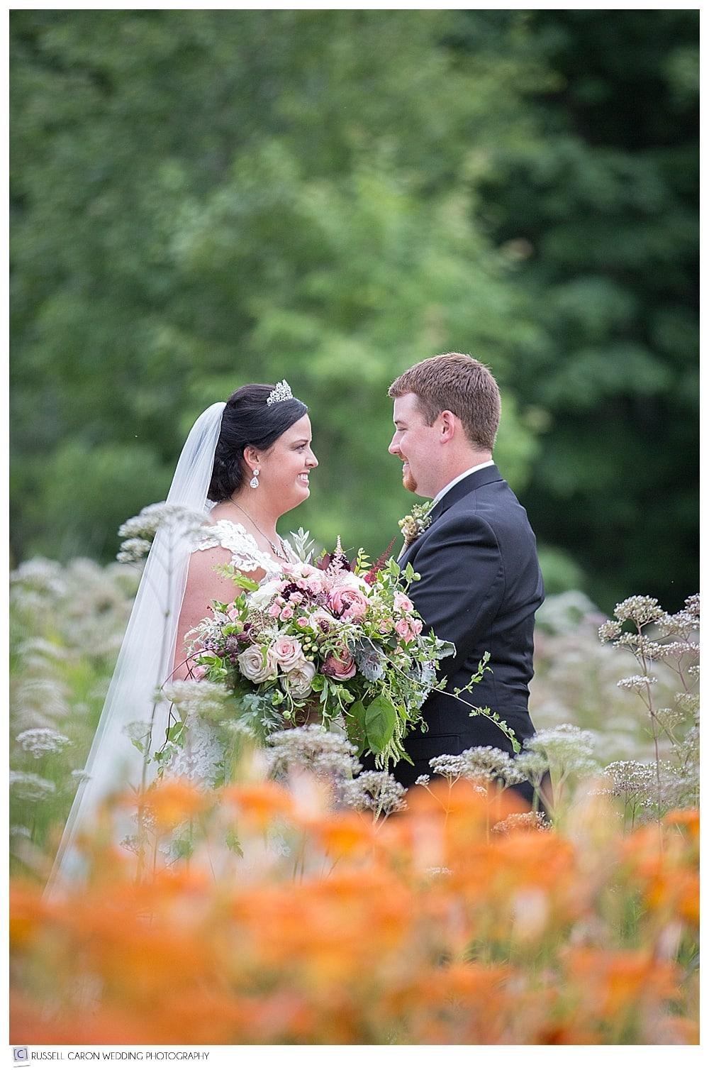 bride-and-groom-amid-flowers