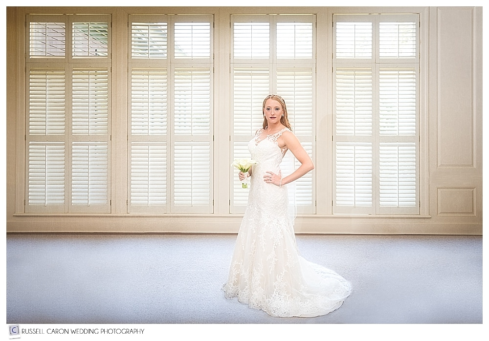 gorgeous bridal portrait at Point Lookout Resort Northport Maine