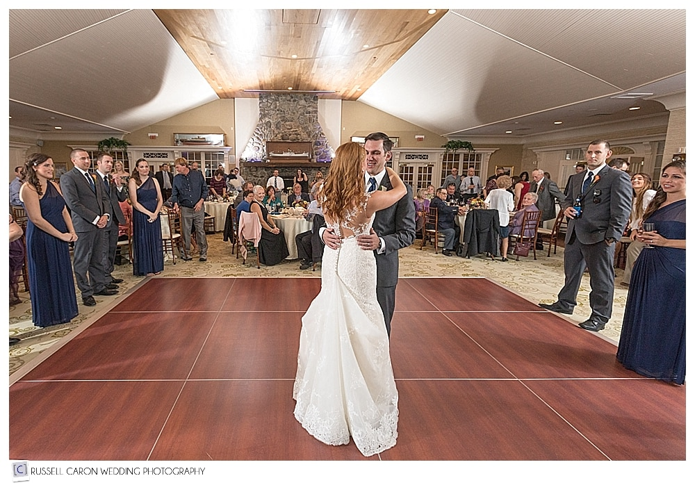 bride and groom during their first dance at Point Lookout Resort weddings