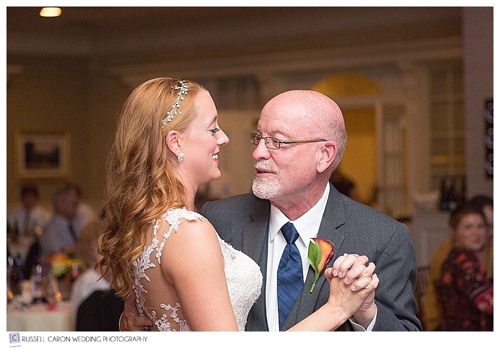 bride and her father during the father daughter dance