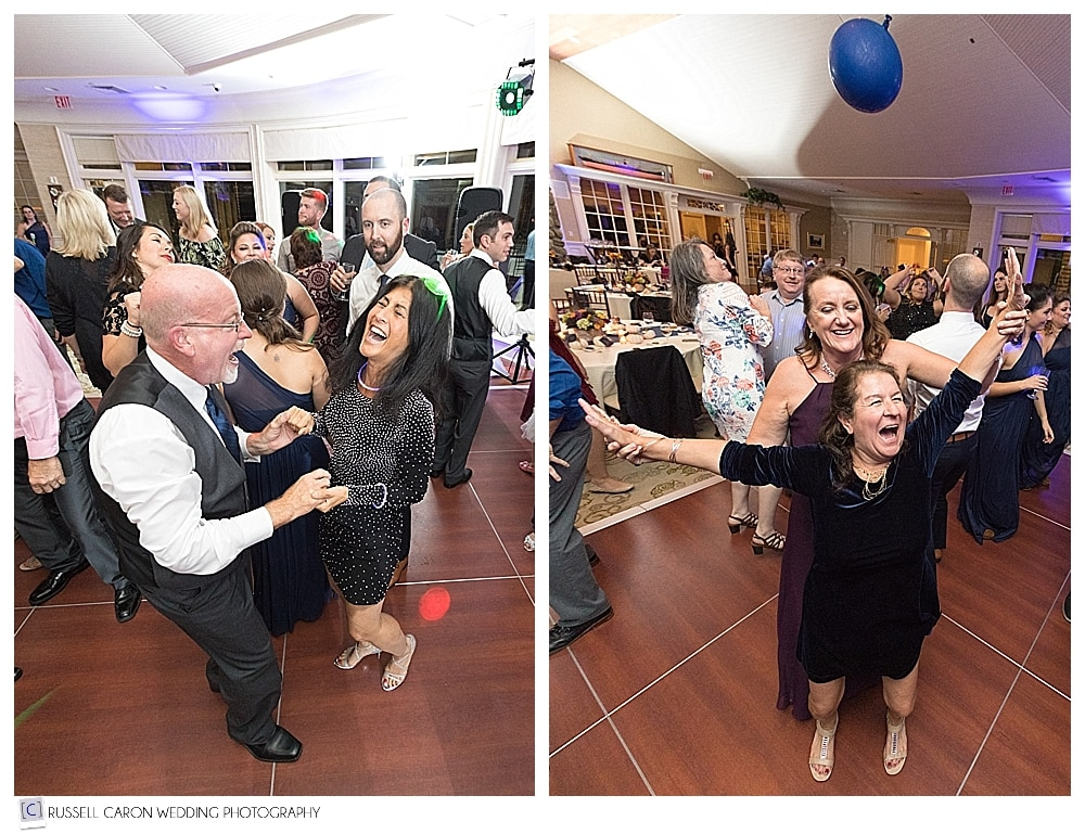 wedding reception fun at Point Lookout Resort