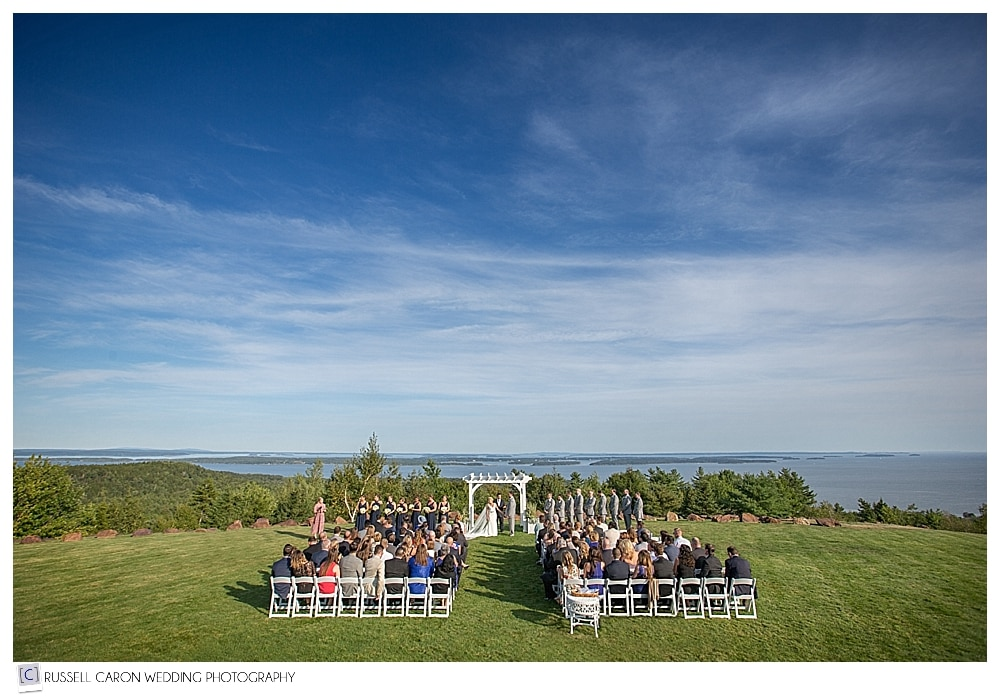 point lookout wedding on the lawn