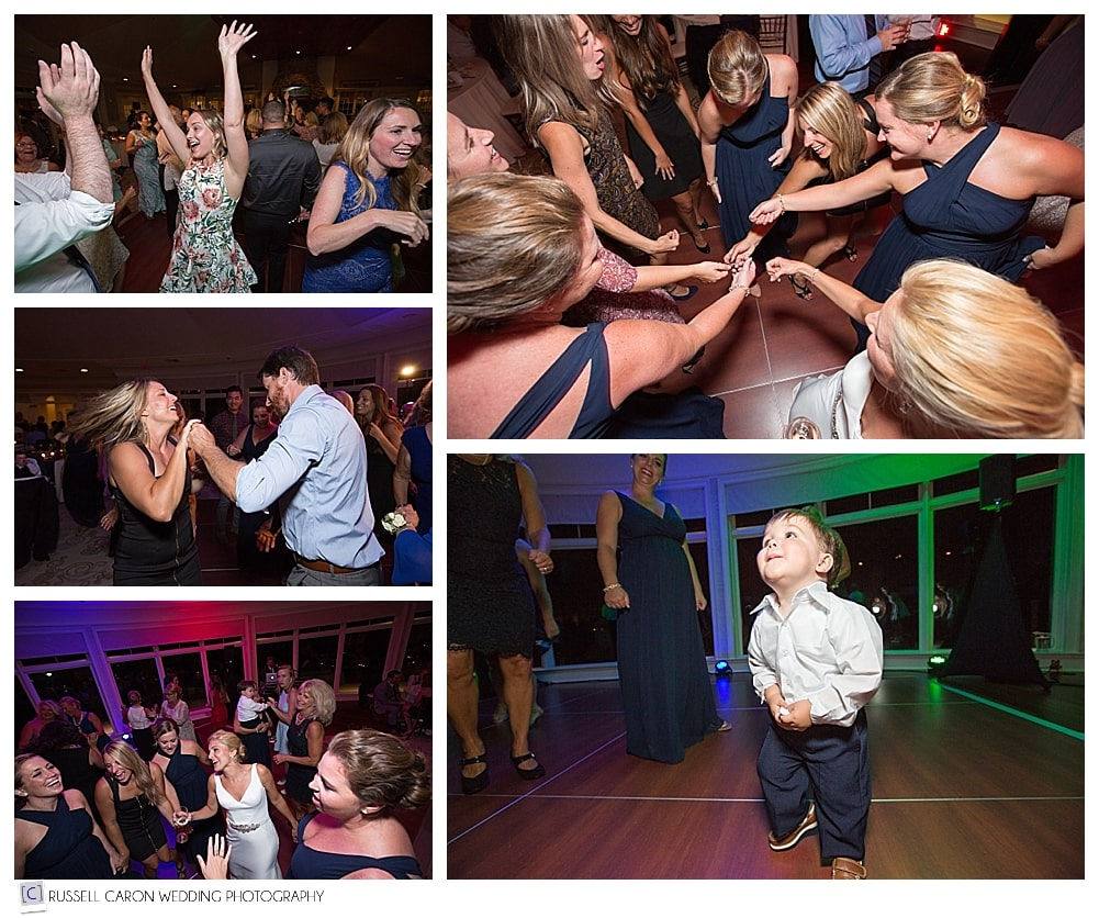 dancing fun at point lookout wedding reception