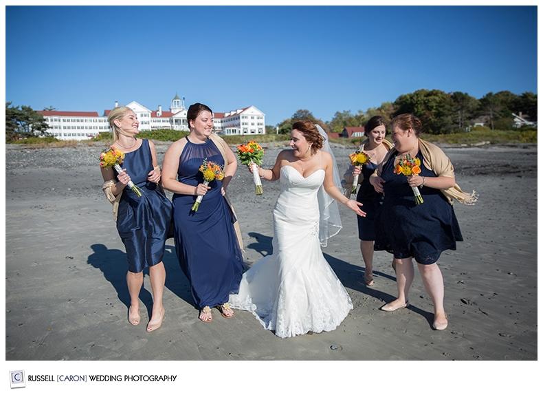 bride-and-bridesmaids-at-beach