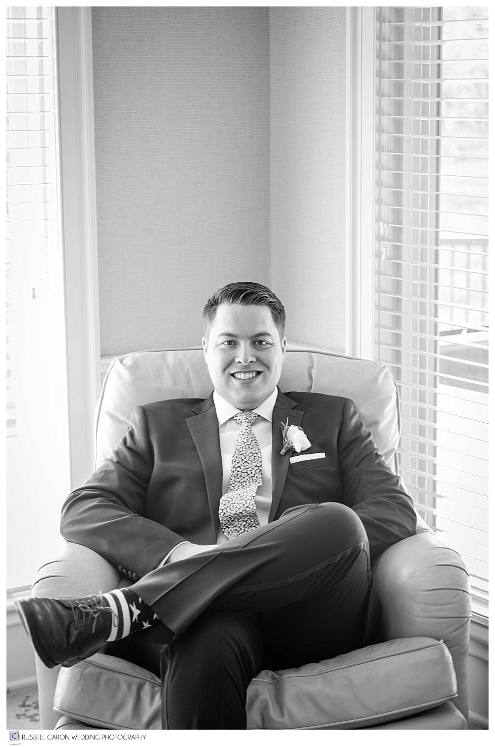groom sitting portrait