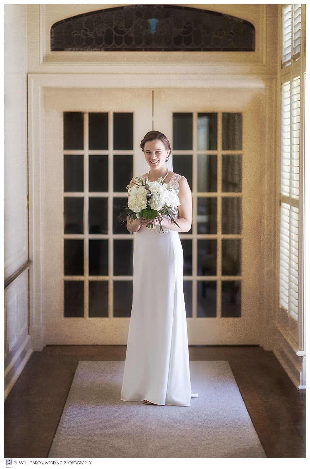 full length beautiful bridal portrait