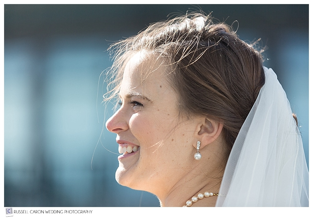 bride during Point Lookout summit outdoor wedding ceremony