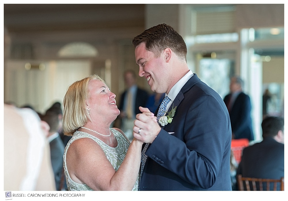 groom and his mother during mother son dance
