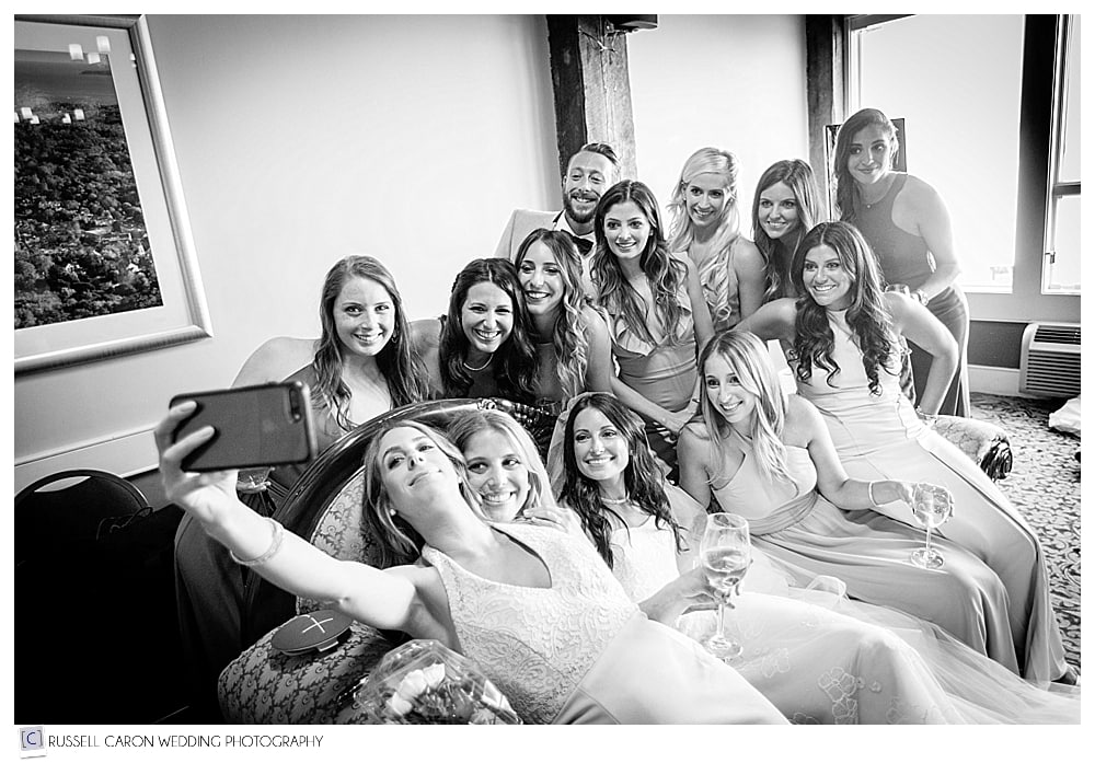 selfie time with bride and bridesmaids