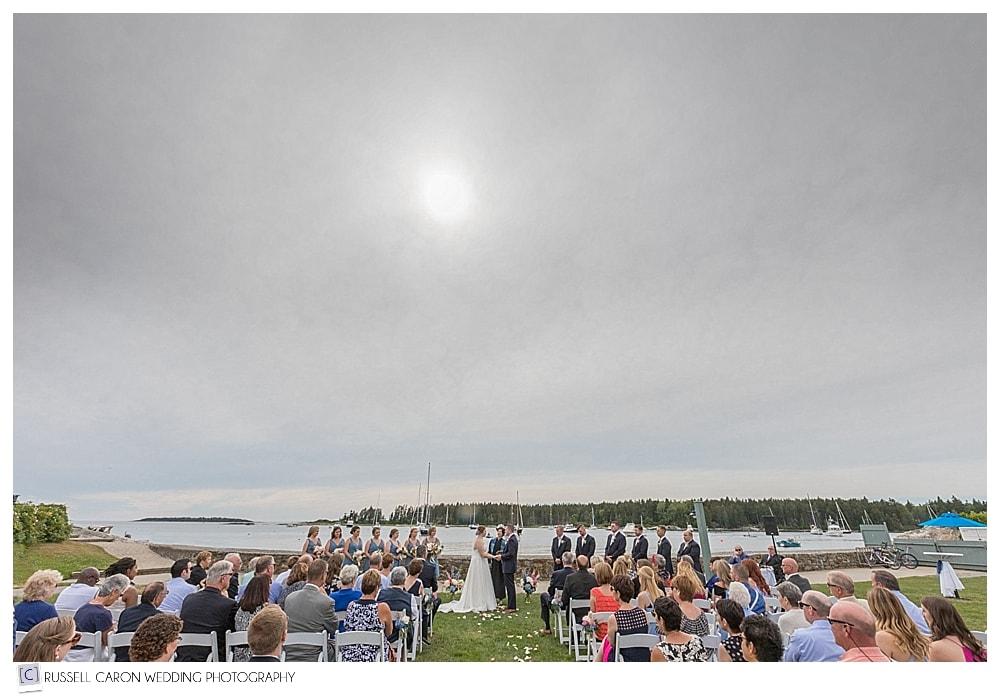 Sebasco Harbor wedding on the lawn