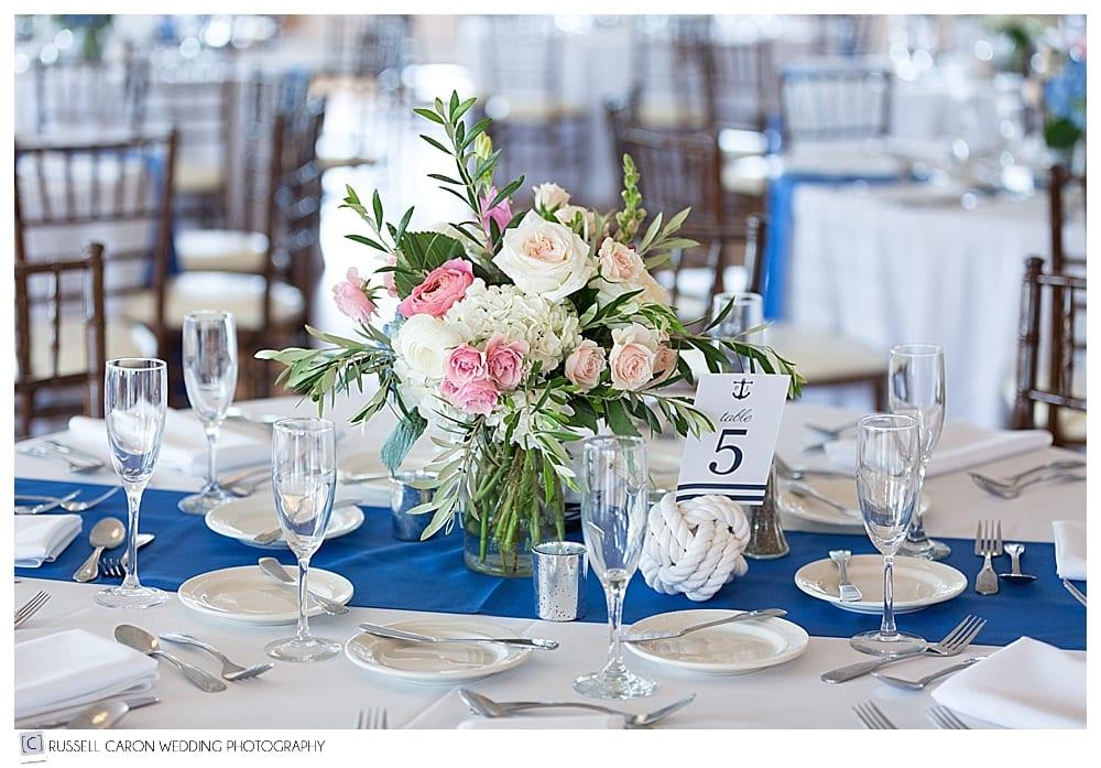 Sebasco Harbor wedding reception details