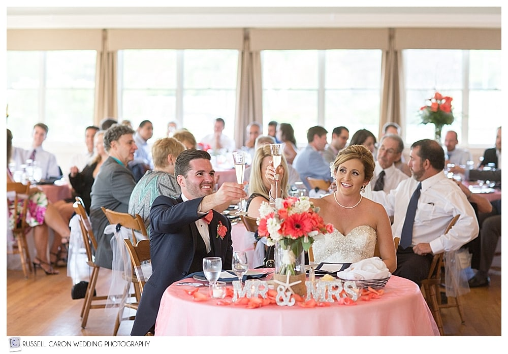 bride-and-groom-toast-each-other