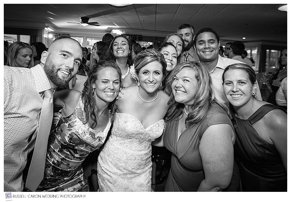 bride-with-friends-during-wedding-reception