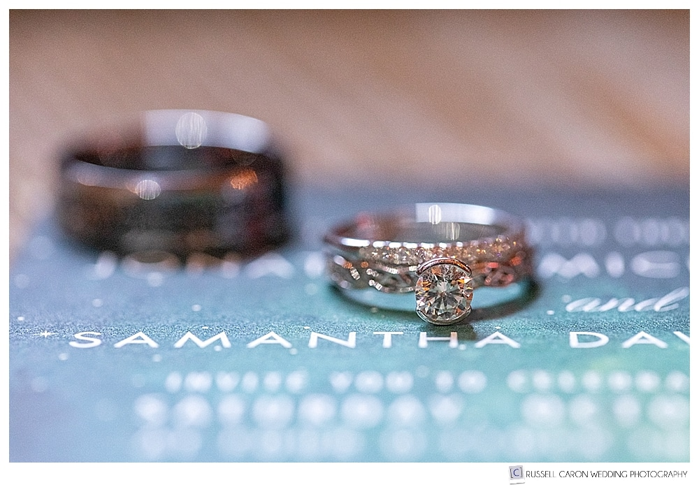 wedding ring and paper suite detail photos