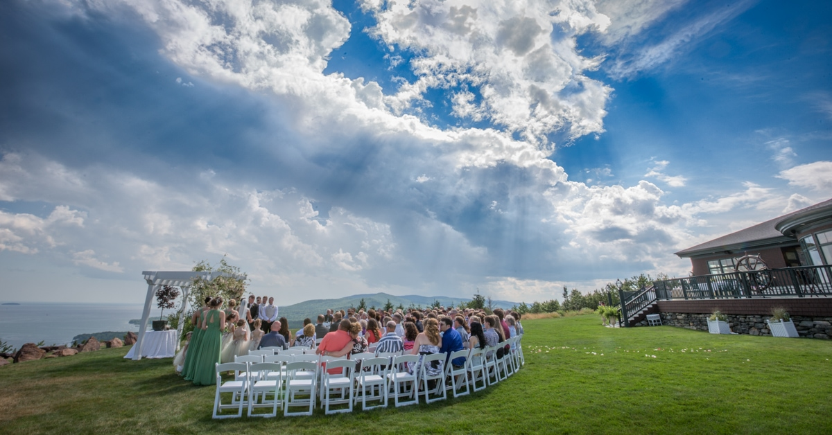 point lookout maine wedding on the lawn northport maine