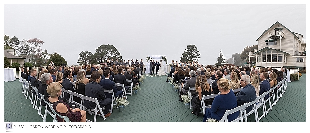 spruce point inn resort wedding ceremony