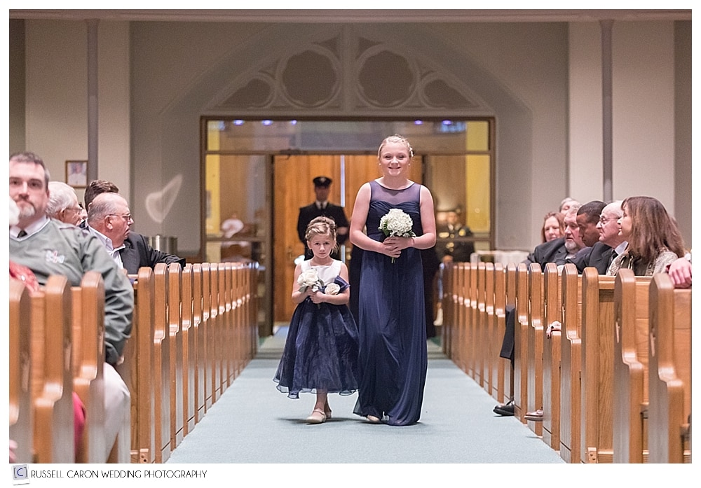flower girls during processional