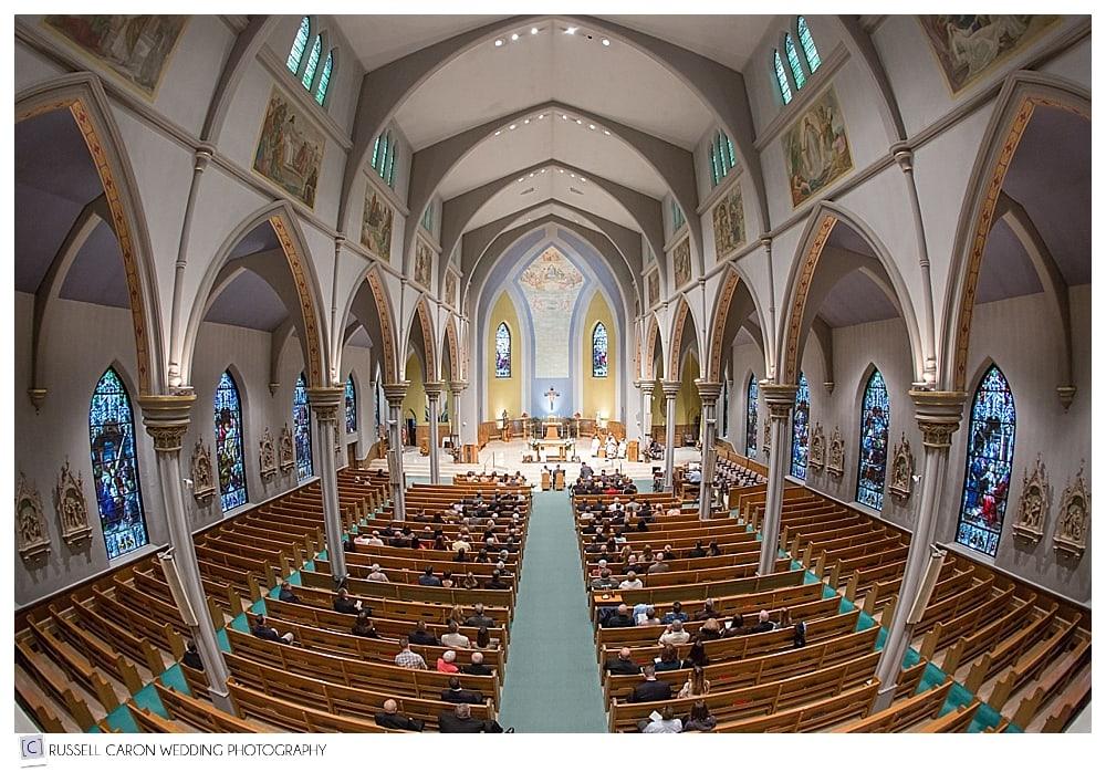 wedding ceremony at St. Joseph church Biddeford Maine