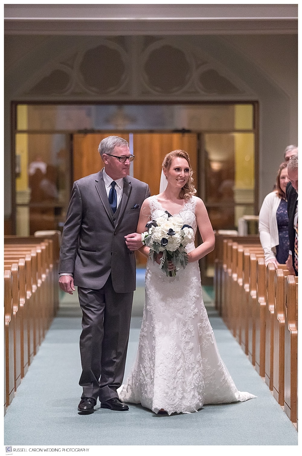 bride and father during processional