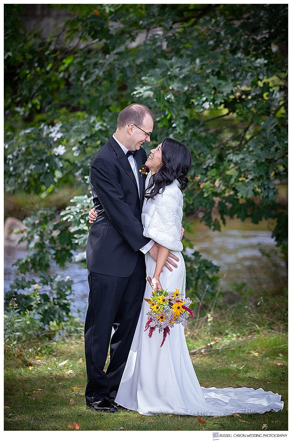 new hampshire drone wedding photo