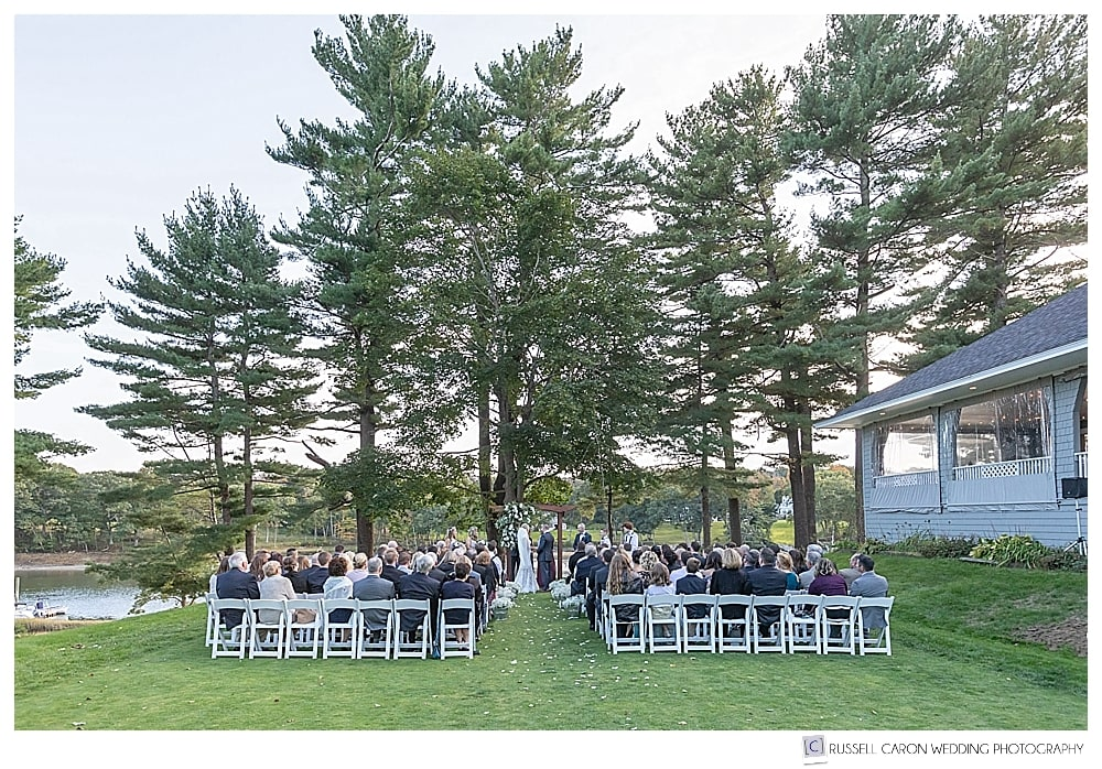 Outdoor York Golf and Tennis Club wedding ceremony
