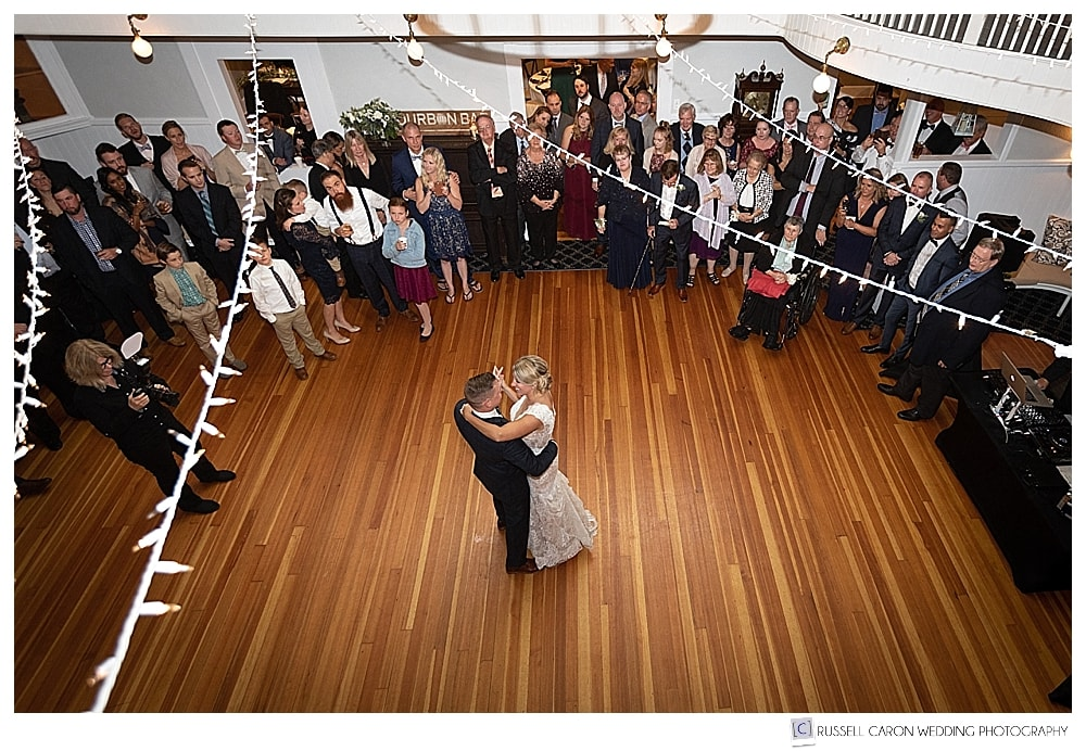 bride and groom during first dance at their York Golf and Tennis Club wedding