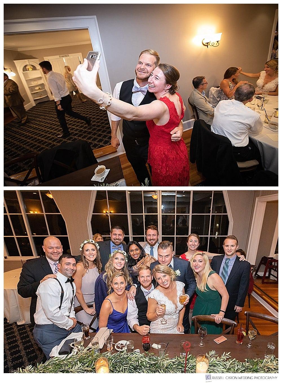 weddings guests have fun at wedding reception