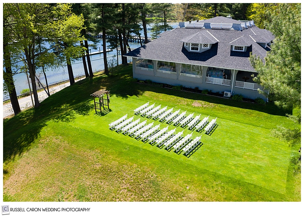 York Golf and Tennis Club outdoor ceremony site, York Maine wedding
