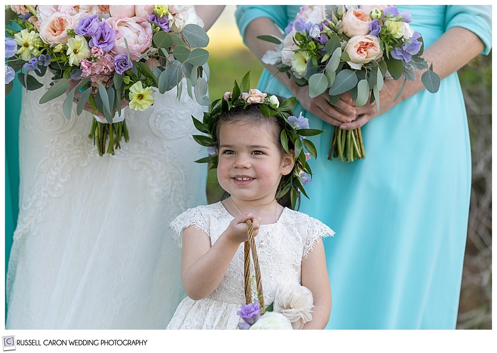 flower girl with a flower crown