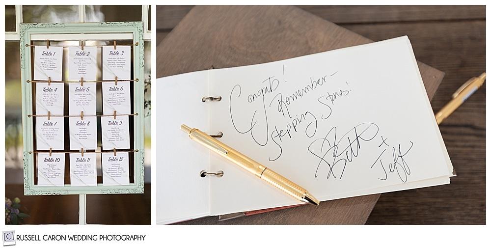 signature in guest book