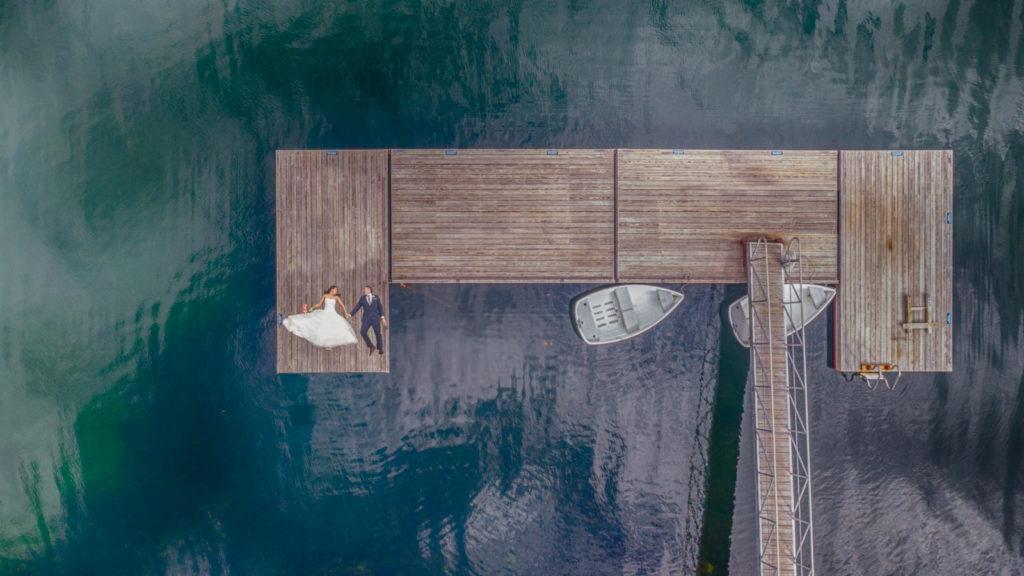 maine drone wedding photography