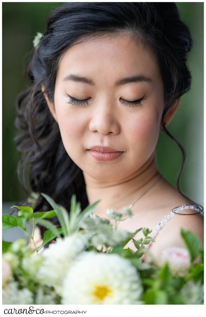 beautiful bridal portrait at a Grey Havens Inn wedding, Georgetown, Maine
